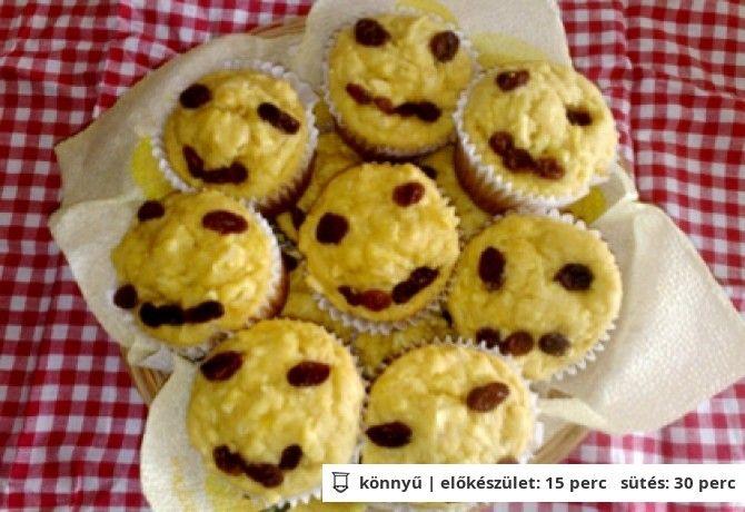 Gluténmentes almás-répás muffin