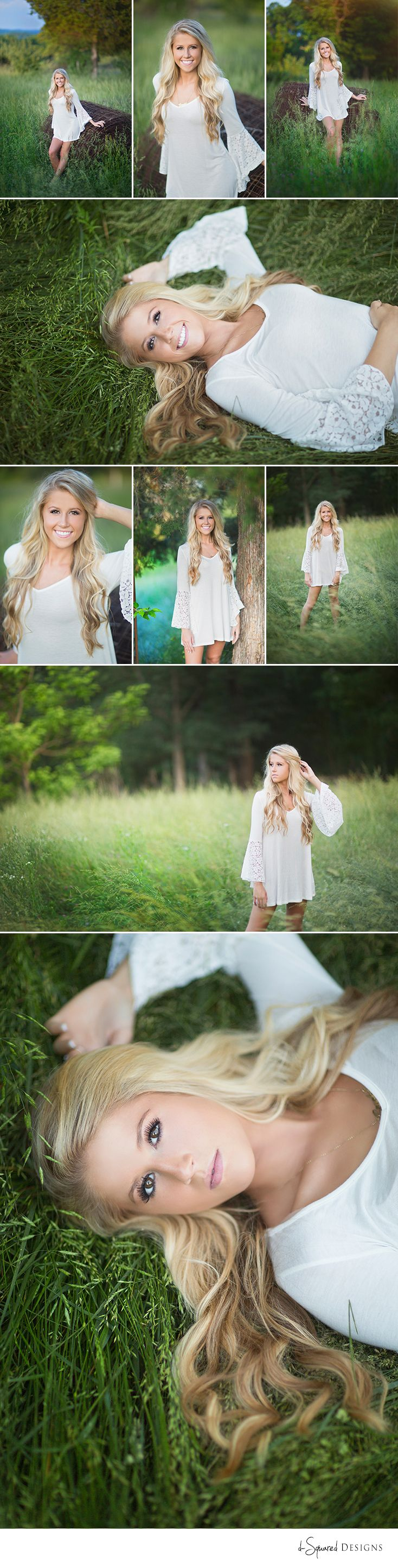 d-Squared Designs St. Louis, MO Senior Photography. Senior girl photography. Senior posing. Girl posing. Blonde. White dress. Gorgeous. Barbie girl.