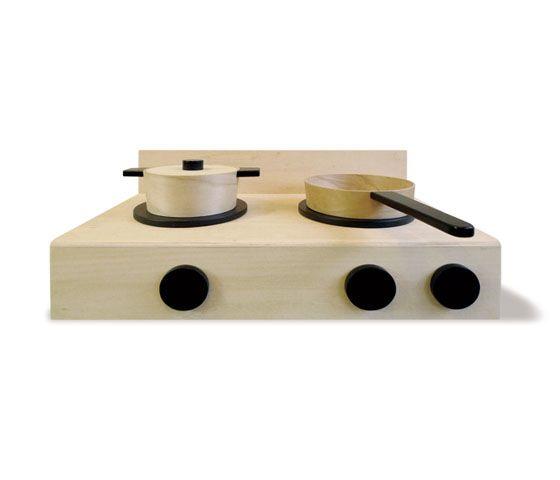 Wooden kitchen - modern retro kids toys