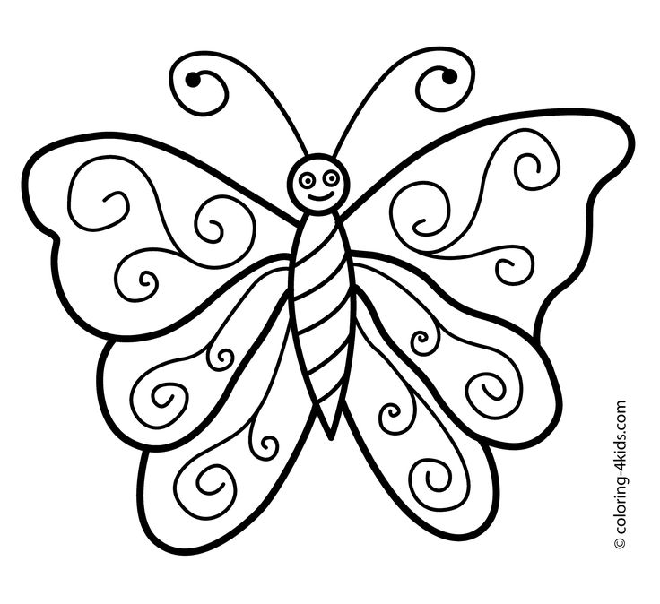 butterfly coloring pages preschool thomas - photo#25