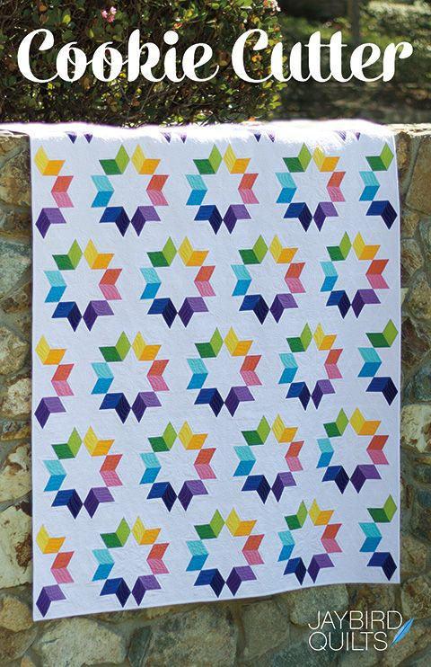I'm so excited to share my latest pattern with you. Meet Cookie Cutter!  Quilt DetailsFabric is Kona by Robert KaufmanPattern - Cookie Cutter, JBQ 170Designed by meQuilted byAngela WaltersStarted o