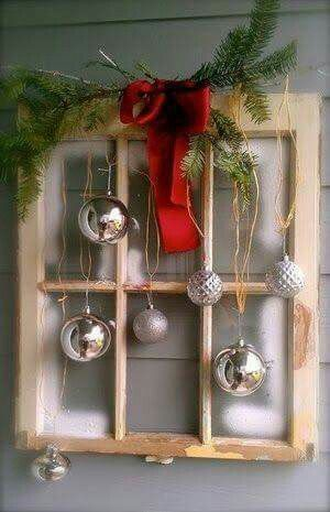 Would love to make one just like this....with purple and silver, now to find a window frame.