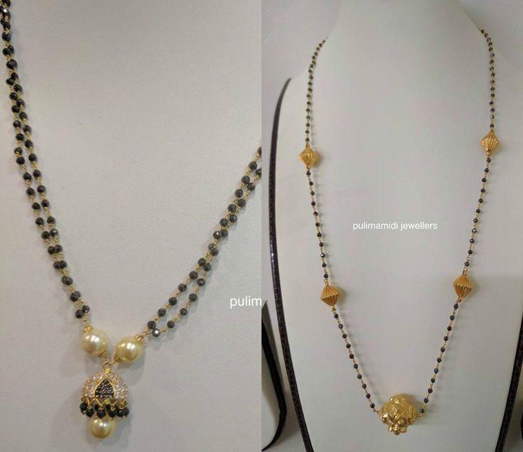 Black Diamond Mangalsutra Chain Models photo