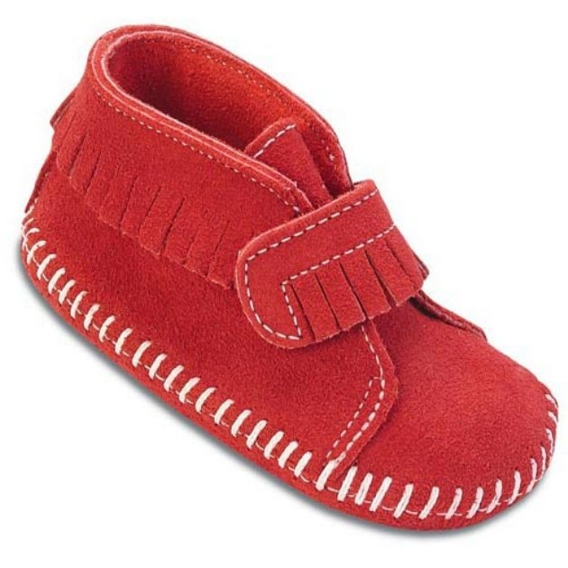 Minnetonka Infants Velcro Strap Bootie - Kids Moccasins at Moccasins