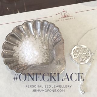 Beautiful personalised jewellery from Onecklace.  Would make the perfect, unique, Xmas gift.