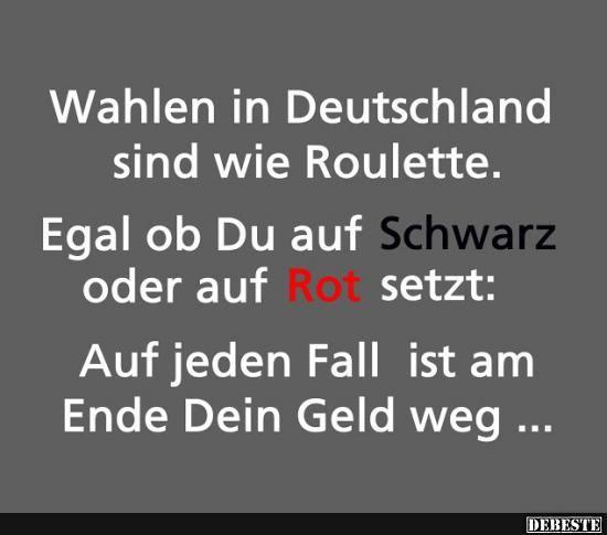 Wahlen in Deutschland sind wie Roulette.. | Lustige Bilder, Sprüche, Witze, echt lustig