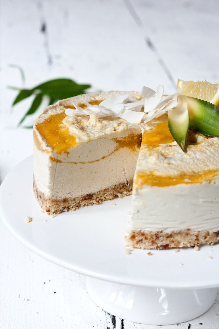 ... raw coconut mango cheesecake ...