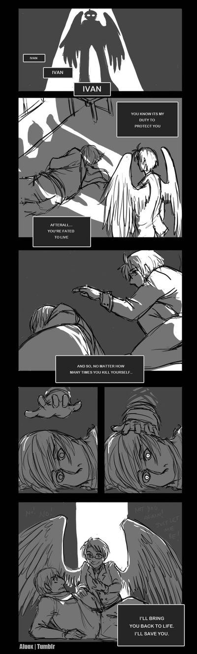 Fated to Live by iAlly.deviantart.com on @deviantART<<<< This is actually pretty depressing. Poor Ivan... except, not, o guess... grr.