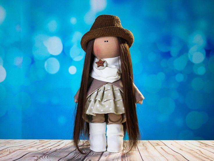 Doll tilda. Doll Silvia. Сollection Fairy doll. Textile doll. Soft toy. Cute gift. Interior doll. Rag doll. Soft toy. Handmade by OwlsUa on Etsy