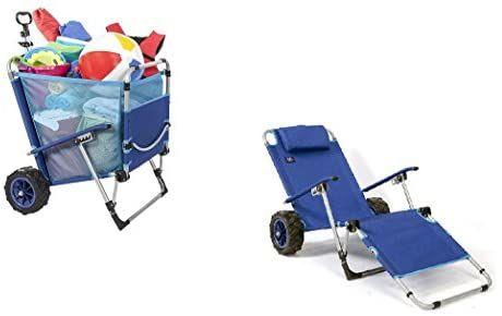 Amazon Com Macsports Mac Sports Beach Day Lounger Bd 100 Blue 1 Size Sports Outdoors Beach Chairs Beach Equipment Beach Cart