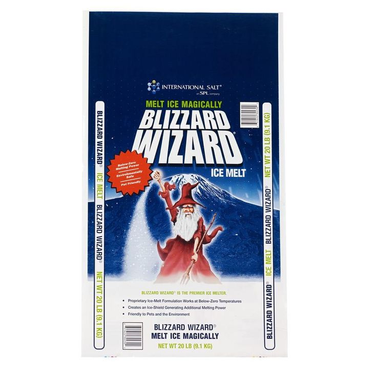 Blizzard Wizard Ice Melt is an Ice Melt product that melts ice at below zero degrees. This product is friendlier to the environment than straight rock salt