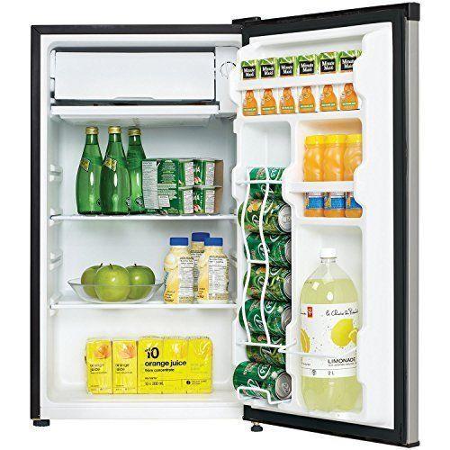 Compact Refrigerator Freezer Mini Fridge Dorm Office Shelves Beverage Reversible #Danby