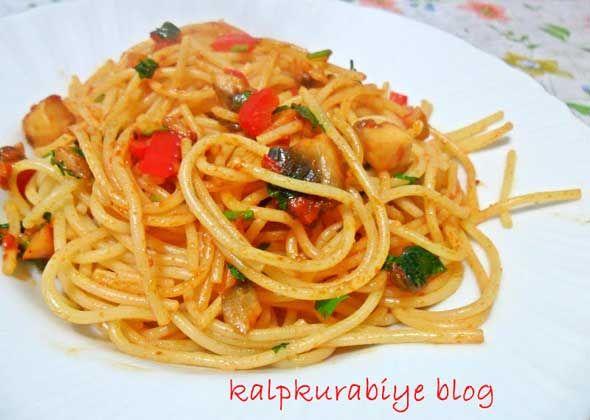Mantarlı Spagetti Tarifi