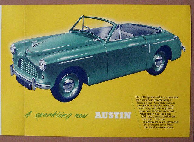 Austin A40 Sports Model ad