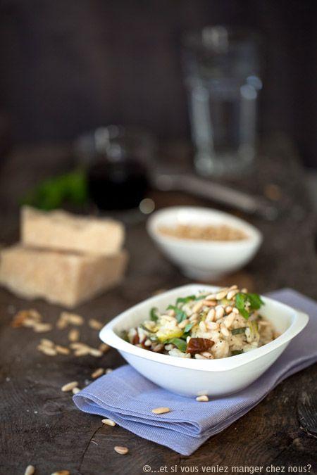 Risotto aux courgettes, tomates séchées et fromage Robiola - To że risotto  mogę jeść codziennie już chyba wszyscy wiedzą. Ograniczam się do dwóch razy w tygodniu. No dobrze... czasami trzech ;)  Ris...