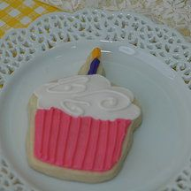 Yellow Kitchen Cookies - cupcake cookie