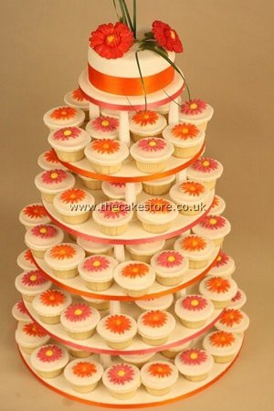 Wedding cupcake Idea- still trying to figure out what I want the decorations to be like for mine.