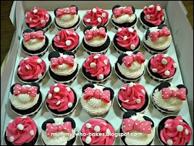 My Little Cupcakes...: Mickey & Minnie Mouse Cupcakes