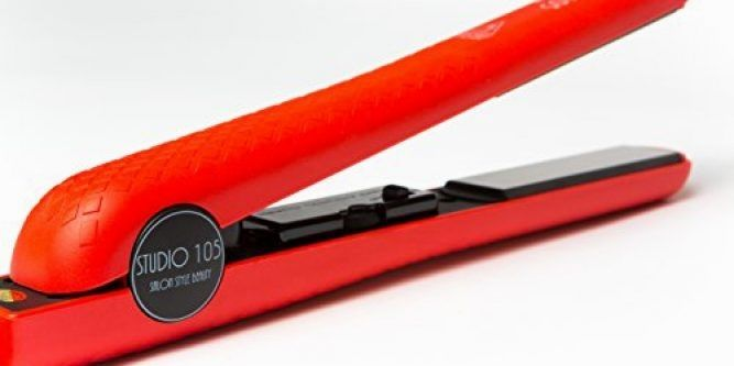 """Professional Ceramic Flat Iron – Hair Straightener by Studio 105 – Designed for All Hair Types with Dual Voltage  GET THAT """" BEAUTIFUL SALON"""" LOOK FROM THE COMFORT OF YOUR OWN HOME AND FOR LESS MONEY The Studio 105 professional ceramic flat iron hair straightener was specifically designed to match or exceed the quality of higher priced brands, but have an affordable price. Our professional flat iron works on any grade hair to create any hair style from; bone straight, flips, curls, o.."""