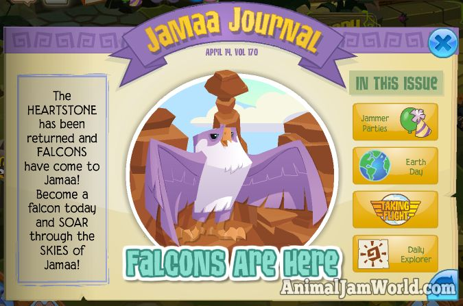 Falcons Have Landed in Jamaa! animal-jam-falcons-here  #AnimalJam #Falcon #News http://www.animaljamworld.com/falcons-have-landed-in-jamaa/