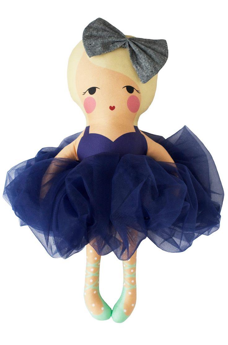 the navy ballerina doll