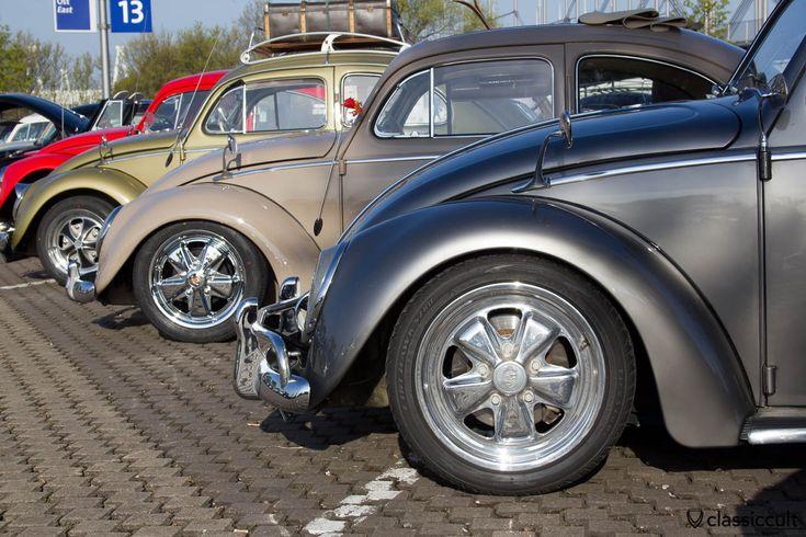 VW Käfer mit Zubehör Albert Zierleisten Spiegel,  Maikäfertreffen 2013