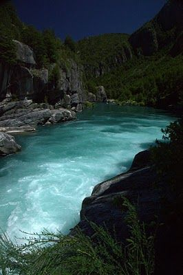 Futaleufu River in South America #travel #southamerica #knowmadtraveljournal