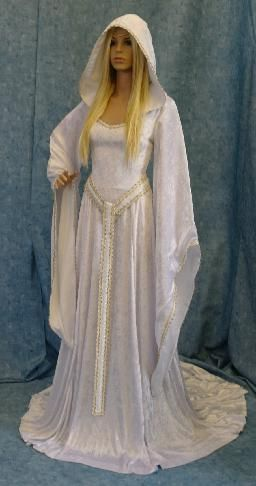 white medevil wedding dress | Medieval Renaissance wedding dresses in Gretna | Elven wedding dress