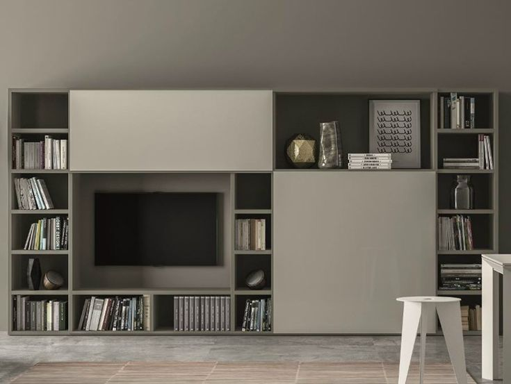 Mueble modular de pared lacado SPEED V - Dall'Agnese