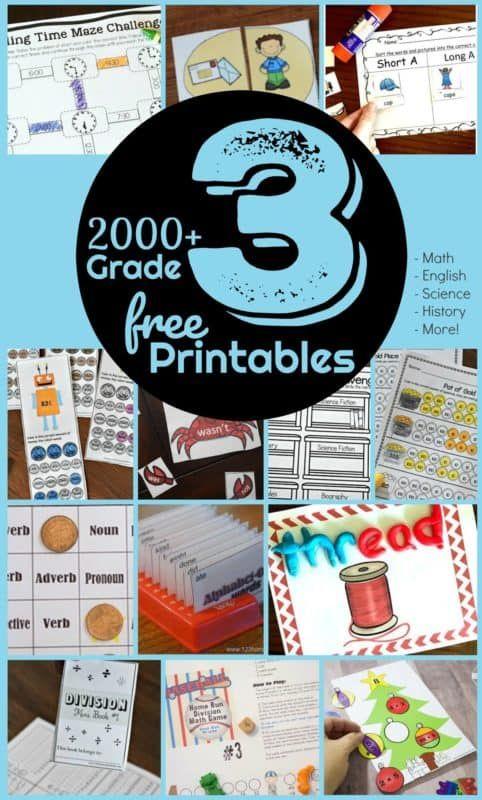 Free 3rd Grade Worksheets Third Grade Worksheets 3rd Grade Math Third Grade Math Worksheets