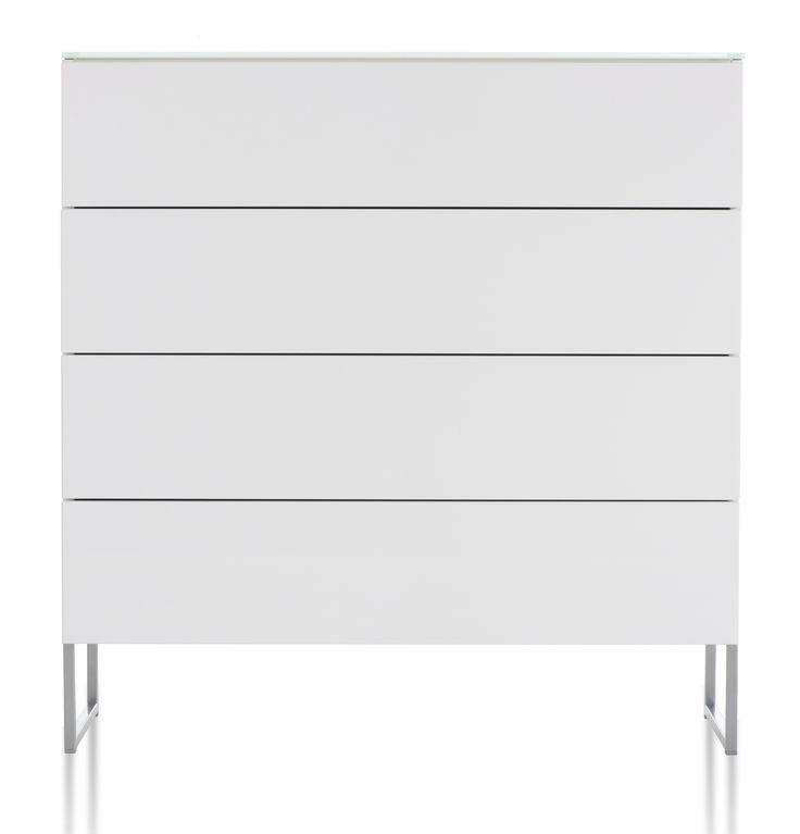 Oliivi byrå – 4 lådor, vit från Nurmela hos ConfidentLiving.se