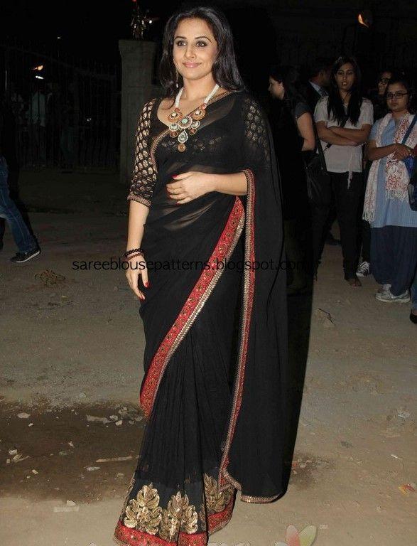 Saree Blouse Patterns: Vidya Balan