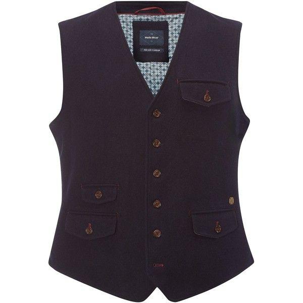 White Stuff Morel Melton Waistcoat (3.435 RUB) ❤ liked on Polyvore featuring men's fashion, men's clothing, men's outerwear, men's vests, mens white vest, mens button sweater vest and mens waistcoat vest