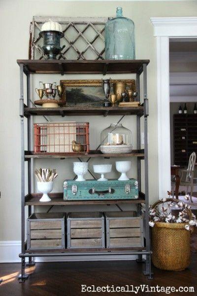 78 Images About Open Shelves On Pinterest: 124 Best Bakers Rack Decor Images On Pinterest