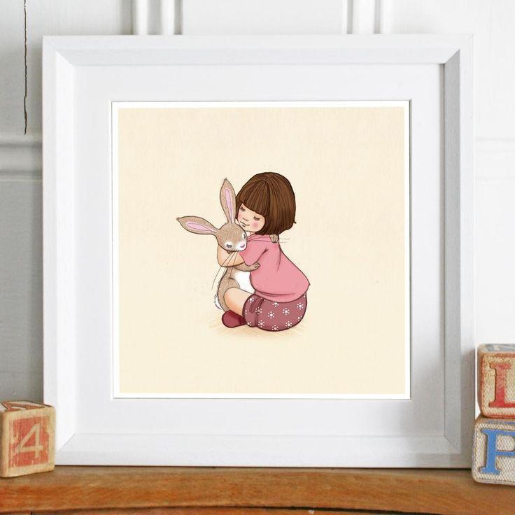 Belle and Boo 'Birthday Hugs' Framed Print