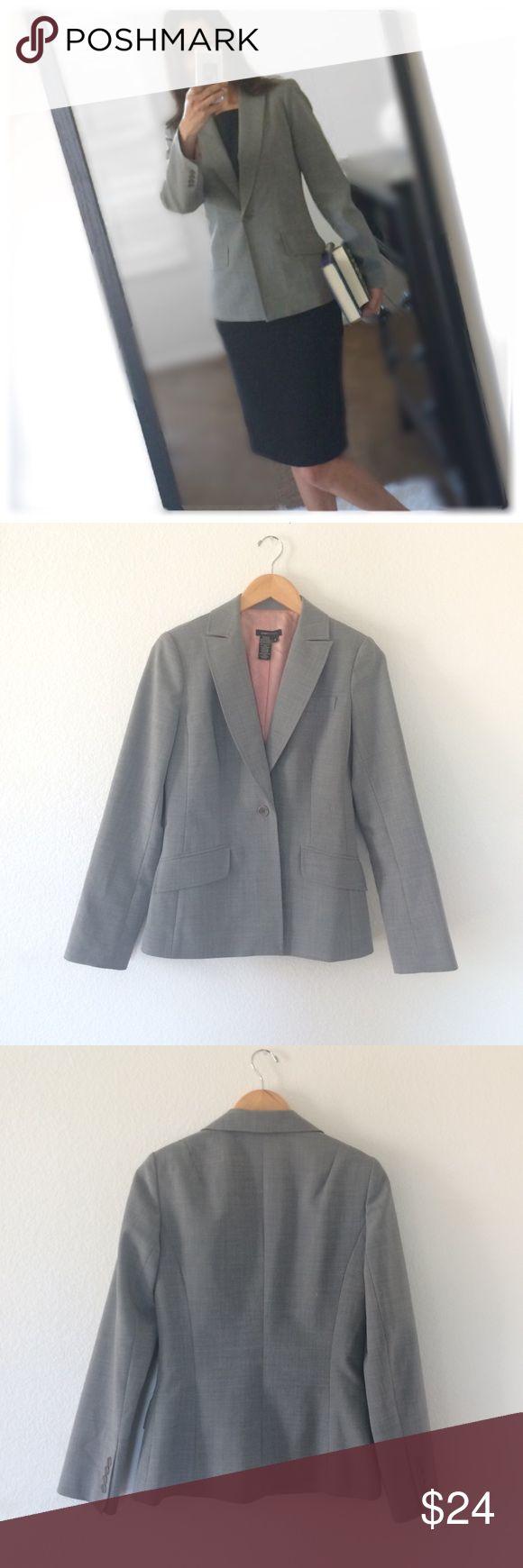 "Gray Blazer Excellent used condition gray blazer by BCBG MAXAZRIA . Size 4. dimensions:bust:17.5"",waist:15.5"", length from shoulders: 24.5"", sleeve: 23.5"". BCBGMaxAzria Jackets & Coats Blazers"