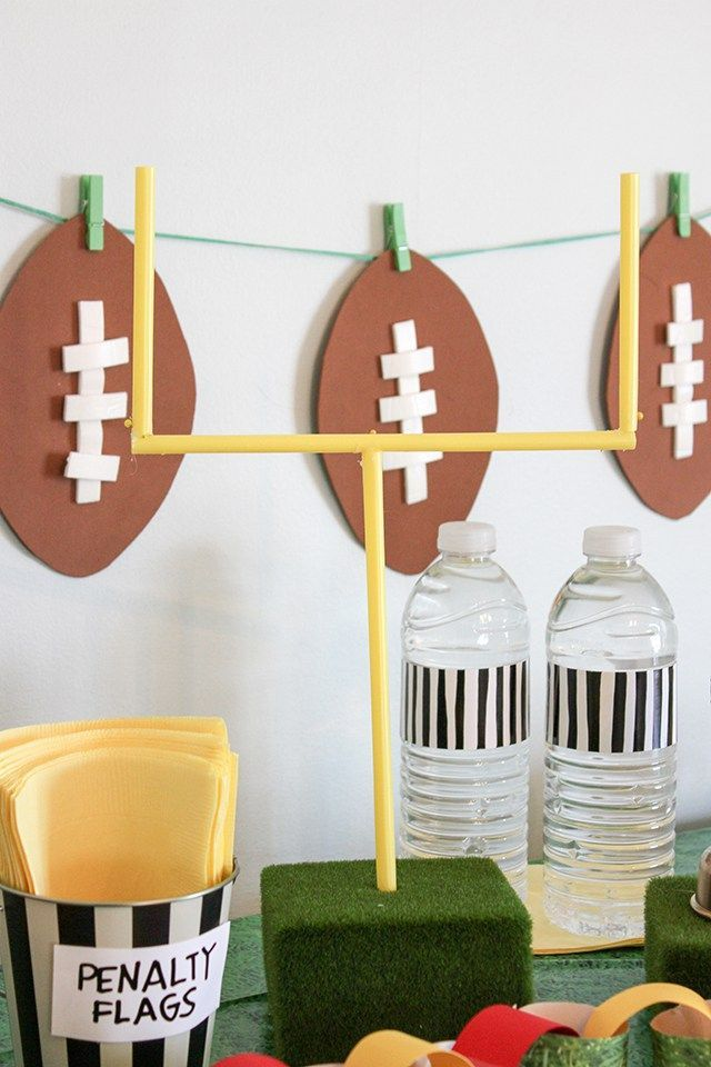 Diy Superbowl Party Decor Easy And Affordable Ideas For Your Party Diy Super Bowl Superbowl Party Decorations Super Bowl Decorations