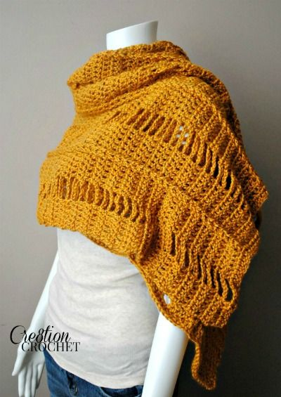 crochet pattern for the Braided and Broken Wrap