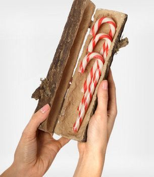 here is a cute idea   take a log and cut it in half Long wise   now Core the inside a bit with a Dremel bit and sand it   now attach Hinges on and keep your secret things inside like an Athame or Candy stash or whatever you like   Decorate it if you like
