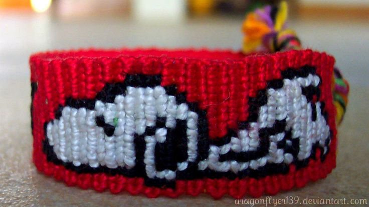 Snoopy friendship bracelet pattern number #2194 - For more patterns and tutorials visit our web or the app!
