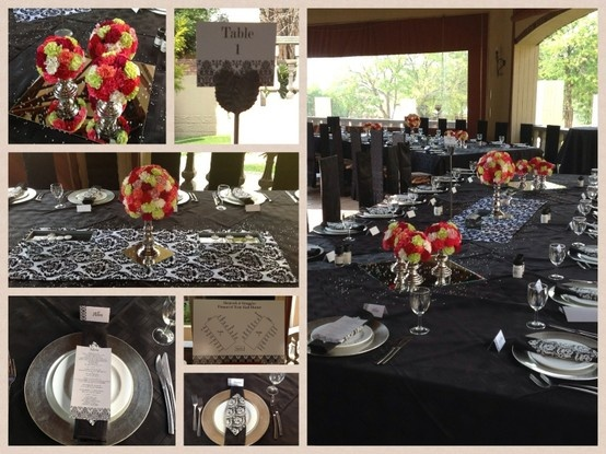 CORPORATE FUNCTION 26 February 2013 Colour : black, silver, touch of colour. Theme : elegant but fun