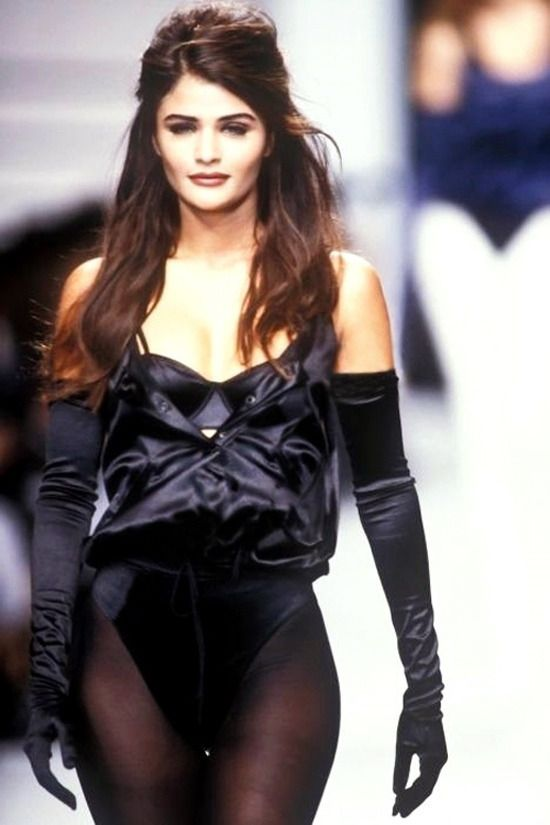 Helena Christensen for Karl Lagerfeld Spring/Summer 1992