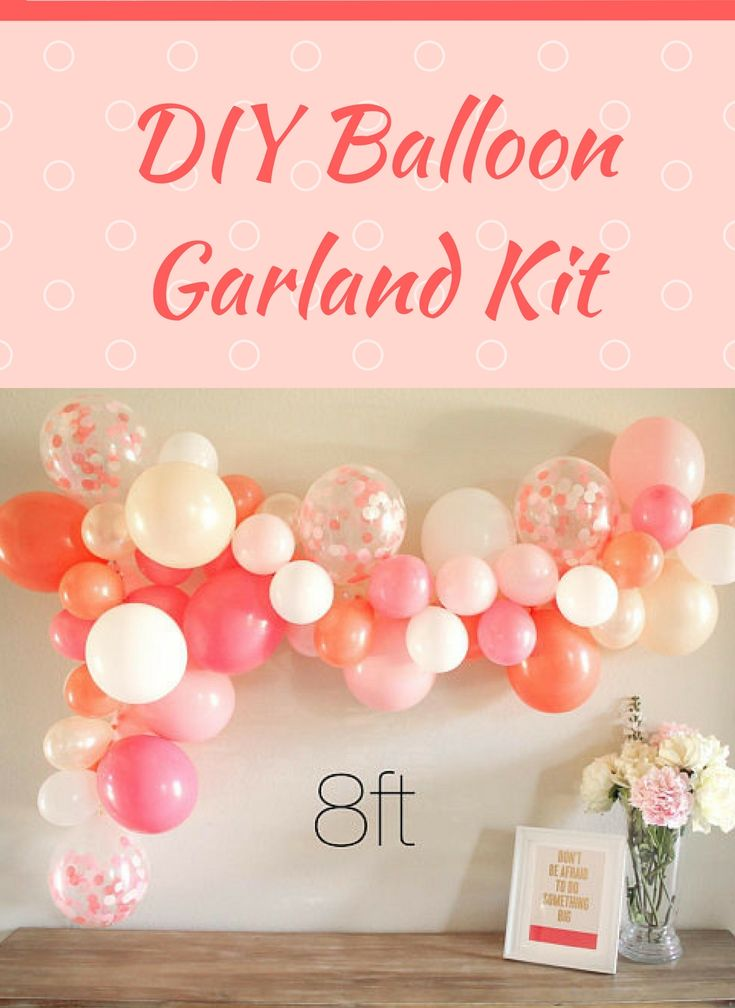 Super cute for parties, weddings, showers, picture walls, everything really! Comes in several sizes, and you pick the color scheme you want. Makes decorating way easier!   #Balloon #Garland #DIY #partydecor #weddinginspiration #WeddingShowerinspiration #ad