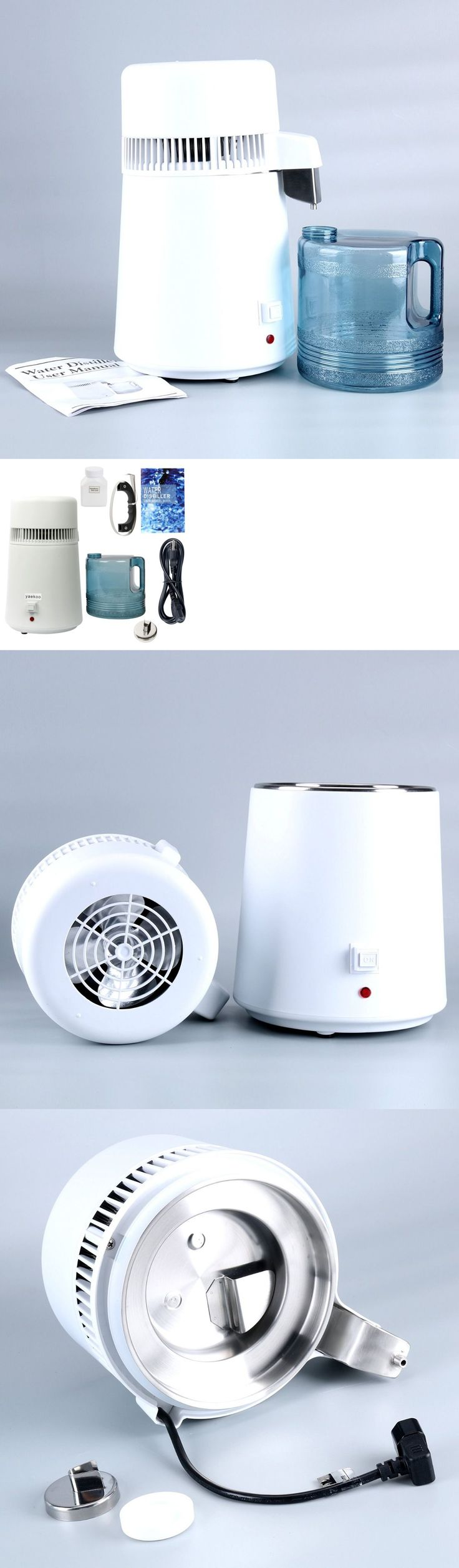 Water Filters 20684: 110-120V Ac 750W 1Gal 4L Pure Water Distiller,All Stainless Steel Internal White -> BUY IT NOW ONLY: $63.48 on eBay!