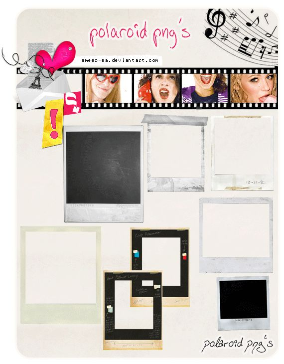 polaroid png's by AmEeR-Sa.deviantart.com