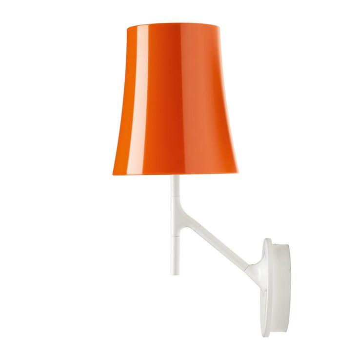 Birdie Vegglampe, Oransje, Foscarini
