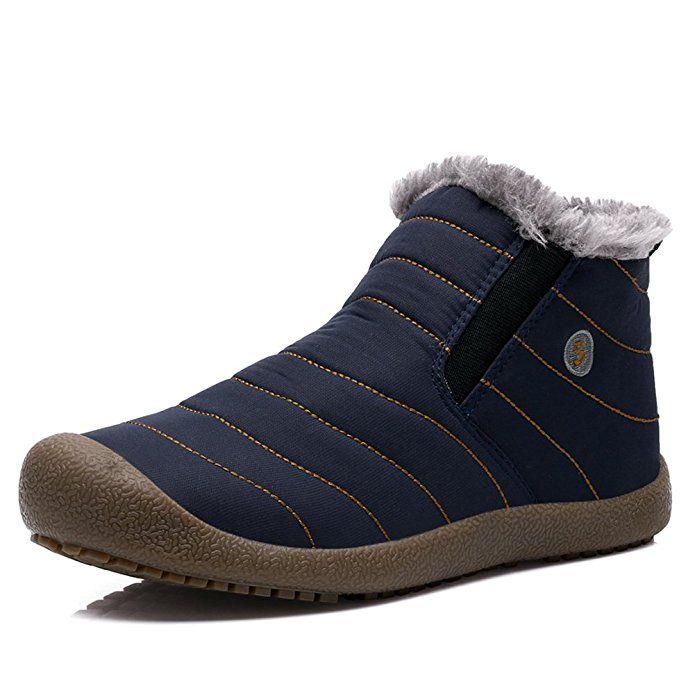 Amazon.com | Yiruiya Mens Waterproof Snow Boots With Fur | Snow Boots
