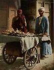 Marchands ambulants. PZ vintage photochromie, Egypte photochromie, vintage pho