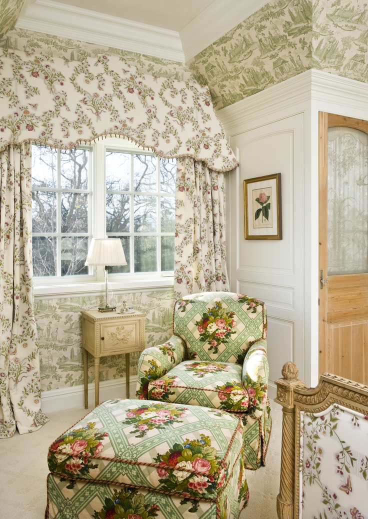 English Tudor Interior Design Ideas: Guest Bedroom Www.lindafloyd.com