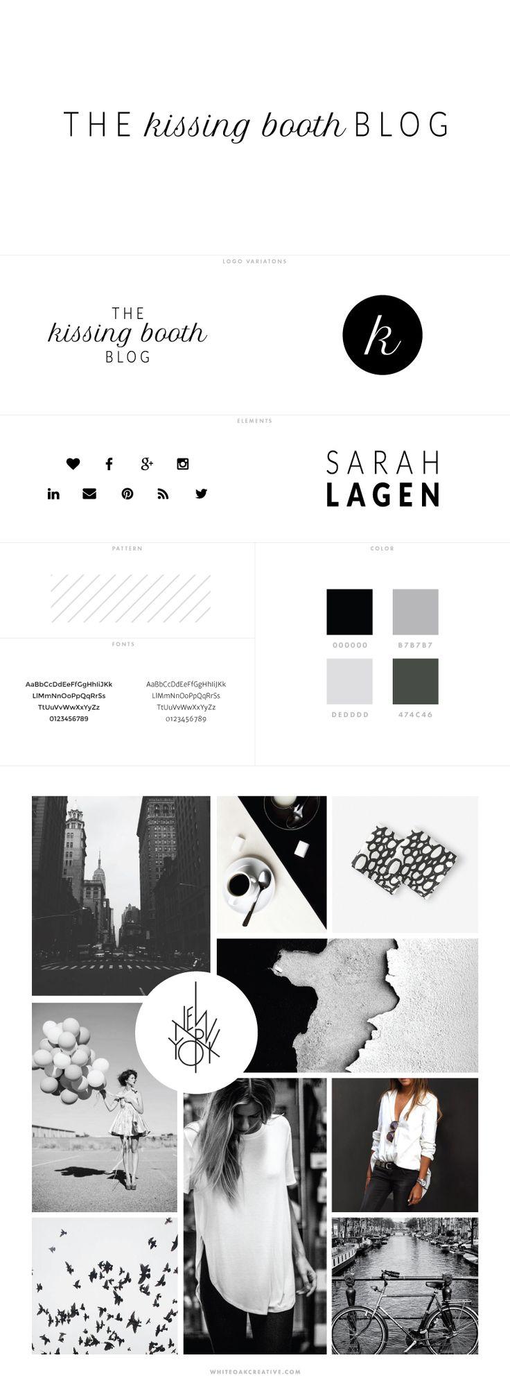 The Kissing Booth Blog Design for WordPress by White Oak Creative - logo design, wordpress theme, mood board inspiration, blog design idea, graphic design, branding